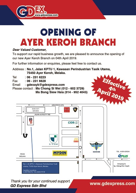 Opening of Ayer Keroh Branch