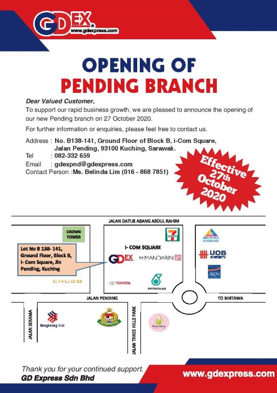 Opening of Pending Branch
