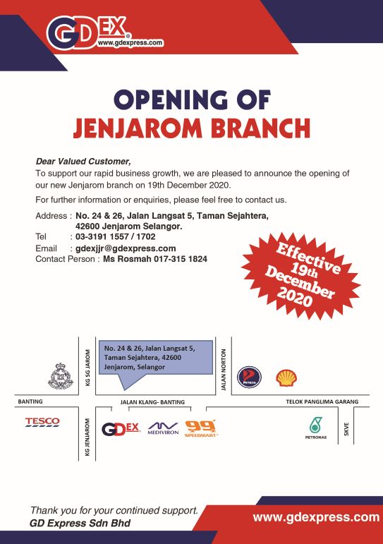 Opening of Jenjarom Branch