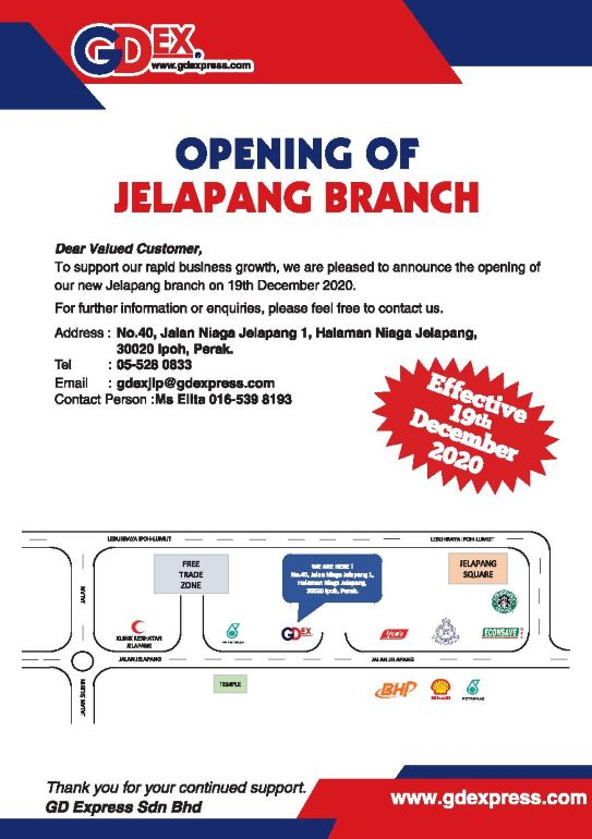 Opening of Jelapang Branch