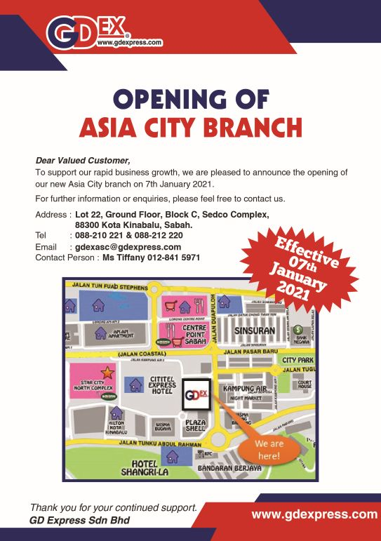 Opening of Asia City Branch