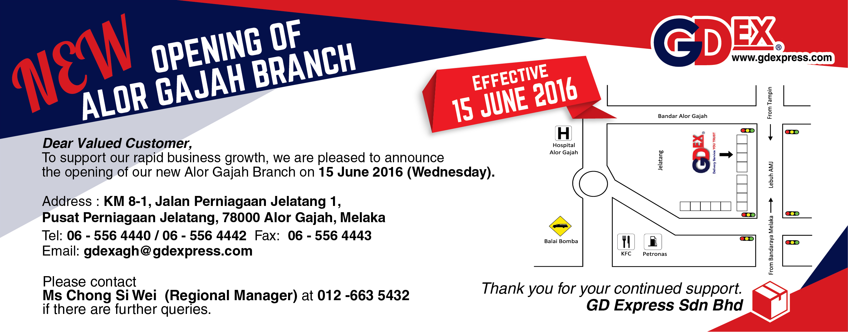 Opening of Alor Gajah Branch