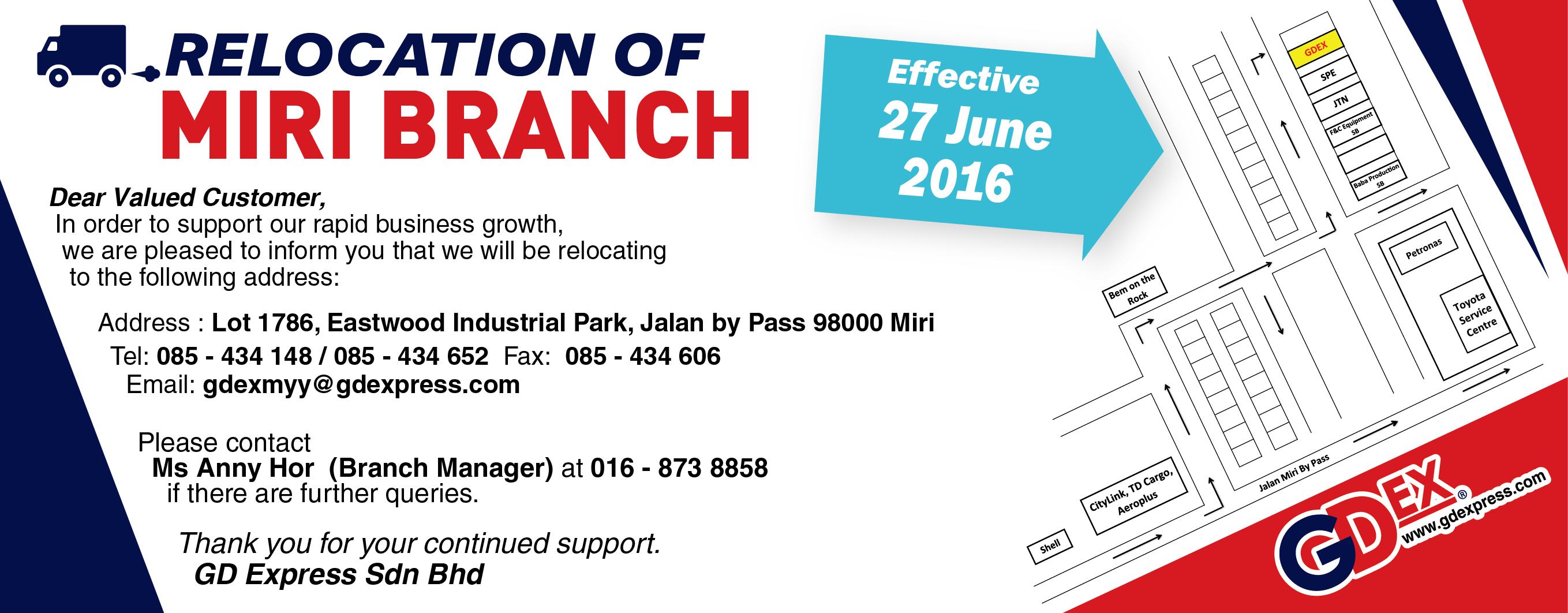 Miri Branch Relocation