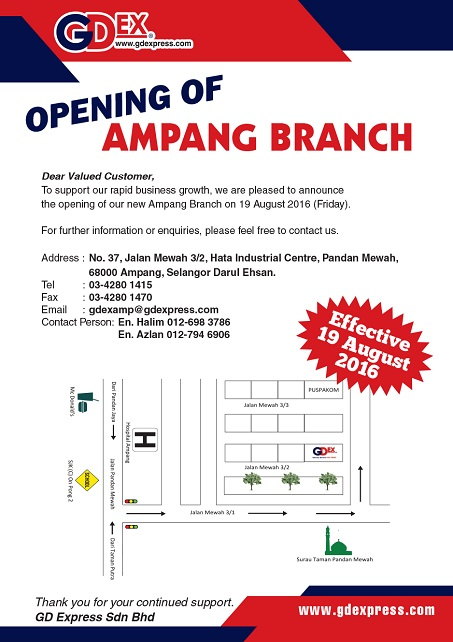 Opening of Ampang Branch