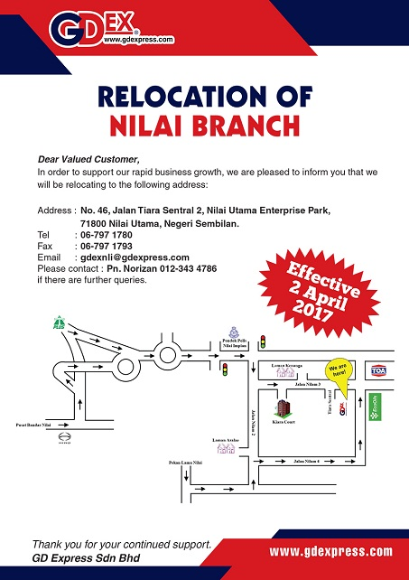 Nilai Branch Relocation
