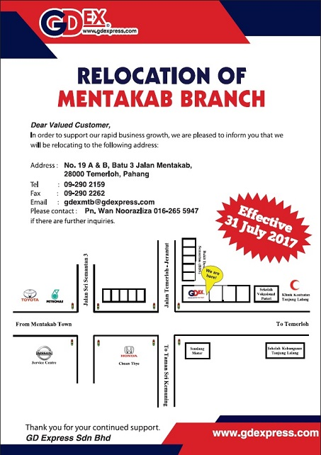 Mentakab Branch Relocation