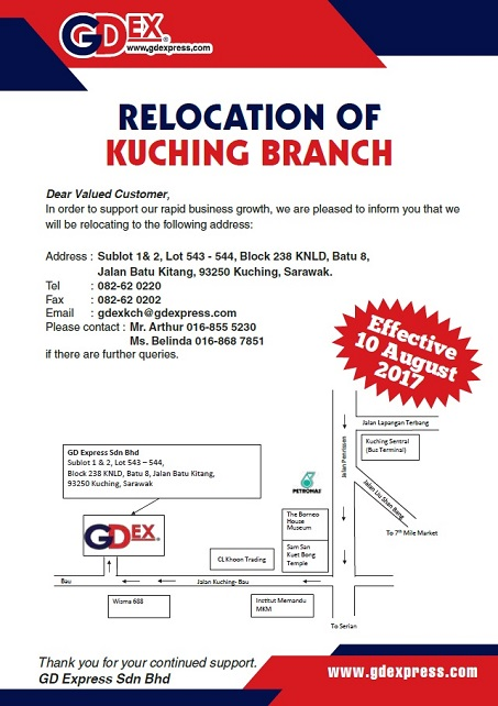 Kuching Branch Relocation