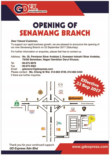 Opening of Senawang Branch