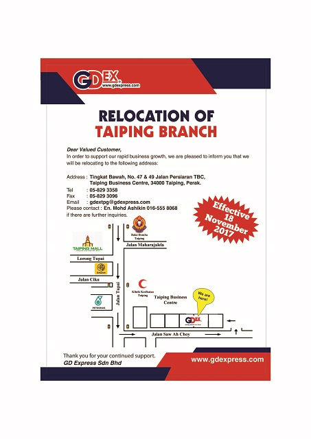 Taiping Branch Relocation