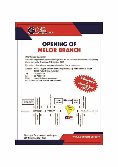 Opening of Melor Branch
