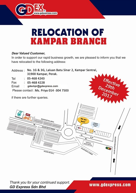 Kampar Branch Relocation