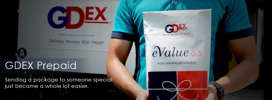 GDEX Prepaid – Sending a package to someone special just became a whole lot easier.